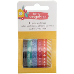 Oh Happy Life Mini Washi Tape Rolls-Amy Tangerine