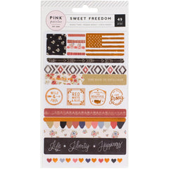 Washi Stickers-Pink Paislee Sweet Freedom