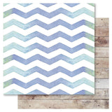 Chevron Wave 12x12 Paper-RubyRockit-Bella True Romantic