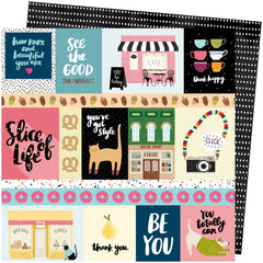 We Click 12x12 Paper-Amy Tangerine Slice Of Life