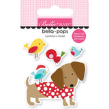 Dachsund Through The Snow Bella-Pops Stickers-Santa Squad-Bella Blvd