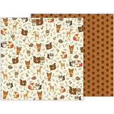 Woodland Critters 12x12 Paper-Pebbles-Woodland Forest