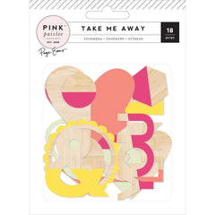 Wood Veneer Shapes-Pink Paislee Paige Taylor Evans Take Me Away