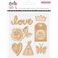 Cute Girl Wood Veneer Shapes-Crate Paper