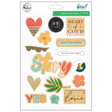 Wood Veneer Stickers Let Your Heart Decide-Pinkfresh Studio