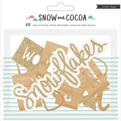 Snow & Cocoa Die Cut Wood & Chip Phrases-Crate Paper