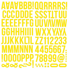 Yellow Foam Alpha Stickers-Simple Stories Color Vibe