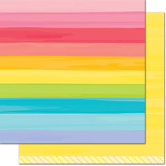 Yellow Brick Road 12x12 Paper-Lawn Fawn Really Rainbow