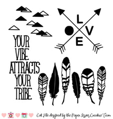 Your Vibe Attracts Your Tribe Free Cut File