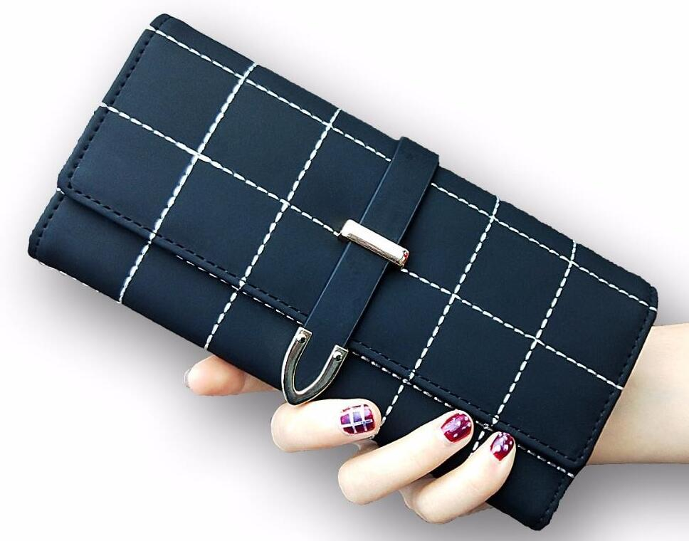 Ladies Plaid Leather Purse. Available In 4 Colours. - Hidden Gem Bags & Accessories.