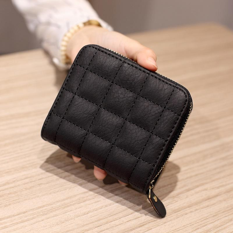 Small Plaid Leather Purse. Available In 5 Colours. - Hidden Gem Bags & Accessories.