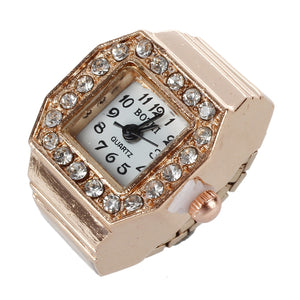 Ladies Bling, Watch Finger Ring. - Hidden Gem Bags & Accessories.