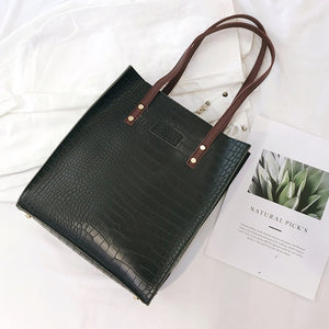 Crocodile Pu Leather Handbag. Available In 3 Colours. - Hidden Gem Bags & Accessories.
