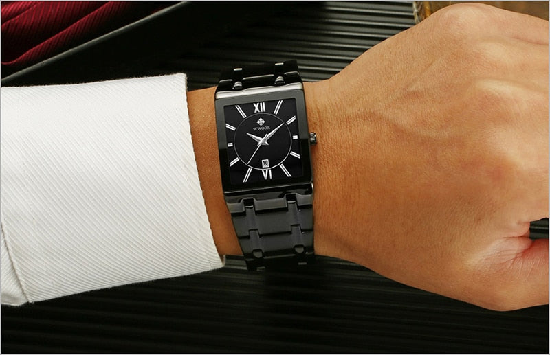 Men's Square Luxury Watch. - Hidden Gem Bags & Accessories.