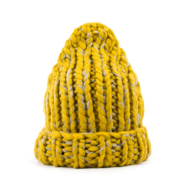 Warm Knitted Beanie Hat. - Hidden Gem Bags & Accessories.