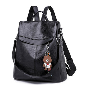 Woman's Leather Backpack, Travel Bag. Available In 2 Colours. - Hidden Gem Bags & Accessories.