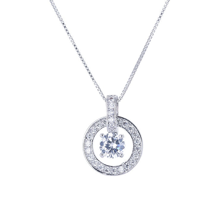 Silver Crystal From Swarovski Necklace. - Hidden Gem Bags & Accessories.