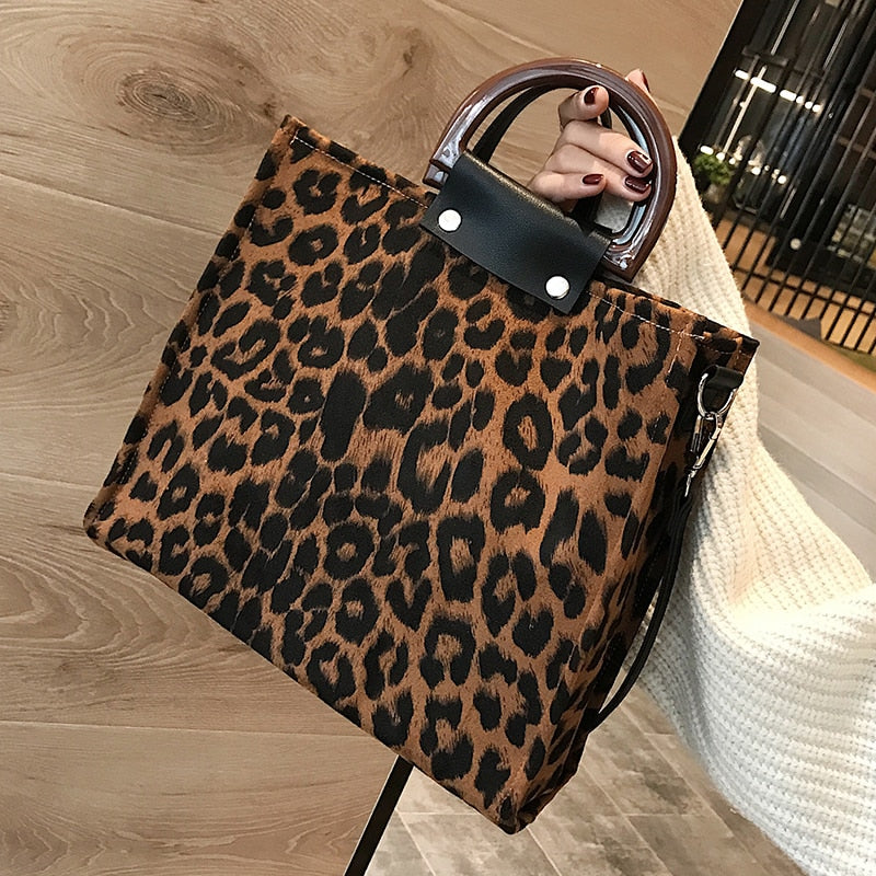 Leopard Print Tote Handbag. Available In 2 Colours. - Hidden Gem Bags & Accessories.