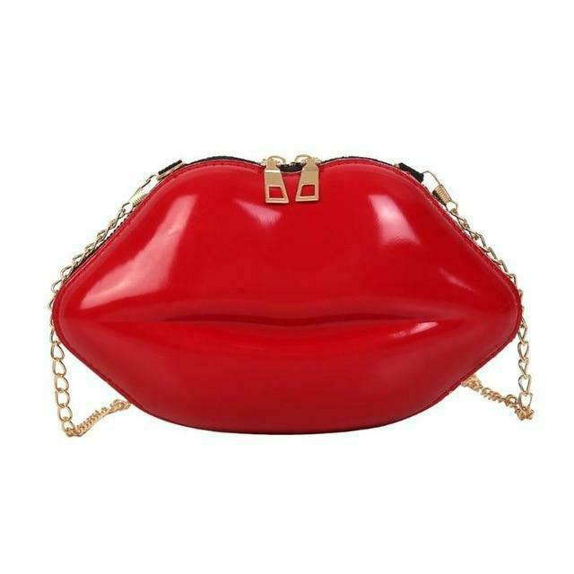 Cross-Body Lip Shaped Ladies Bag. Available In 6 Colours. - Hidden Gem Bags & Accessories.