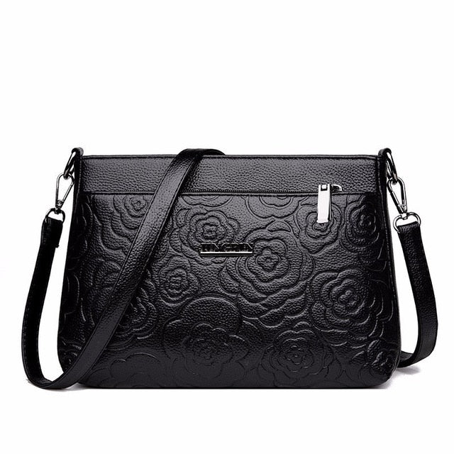 Flower Pattern Cross-Body Bag. Available In 5 Colours. - Hidden Gem Bags & Accessories.