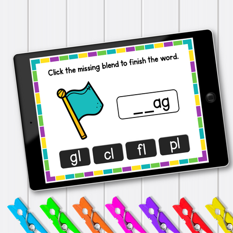 Consonant Blends - L Blends - Activities and Games