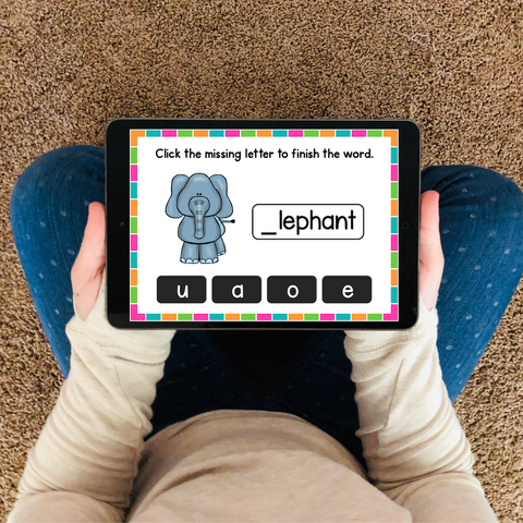 Digital Phonics Activities for Alphabet Practice and Review