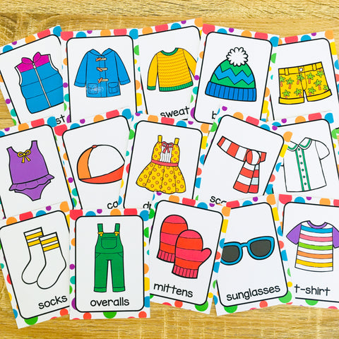 ESL Beginners Flashcards - Clothes Flashcards for Online ESL and VIPKID Classes