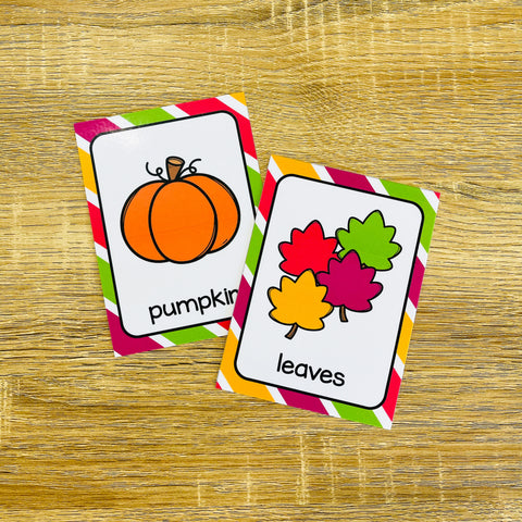 ESL Beginners Flashcards - Fall Flashcards for Online ESL and VIPKID Classes