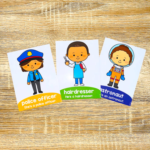 ESL Beginners Flashcards - Occupations Flashcards for Online ESL and VIPKID Classes