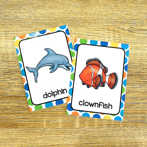 English Flashcards for Kids- Ocean Animals Flashcards PDF