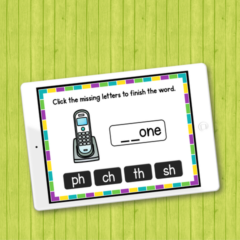 Free Consonant Digraphs Phonics Activities and Games for ESL Kids