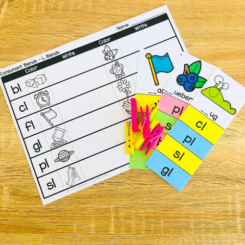 Initial Consonant Blends Phonics Activities