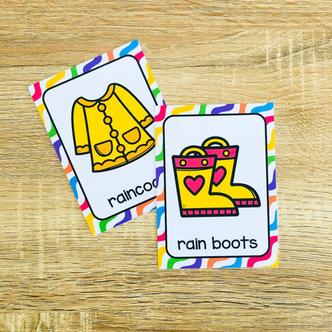 Printable ESL Spring Flashcards for Vocabulary Games and Vocabulary Activities
