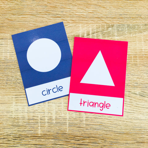 Printable Shapes Flashcards for ESL Beginners