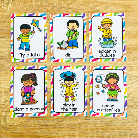 Spring Flashcards for ESL Vocabulary Activities and Vocabulary Games