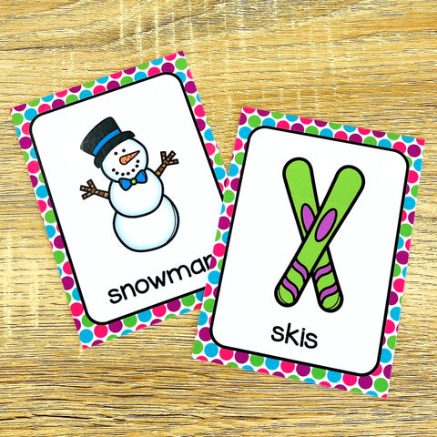 Winter Flashcards for ESL Vocabulary Activities and Vocabulary Games