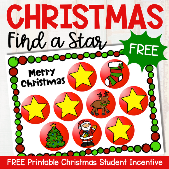 FREE Christmas 'Find a Star' Reward System