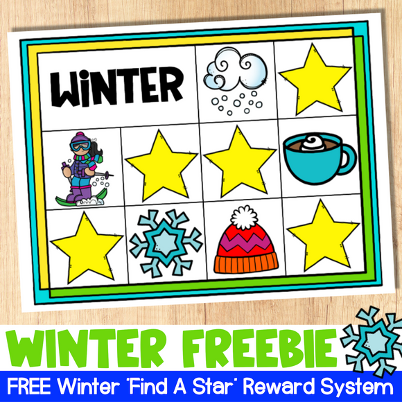FREE Winter Find a Star Reward System