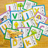 Alphabet Clip Cards - Match Upper & Lower Case