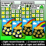 St. Patrick's Day Online ESL Reward System (8 Boards)