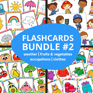 ESL Flash Cards Bundle #2