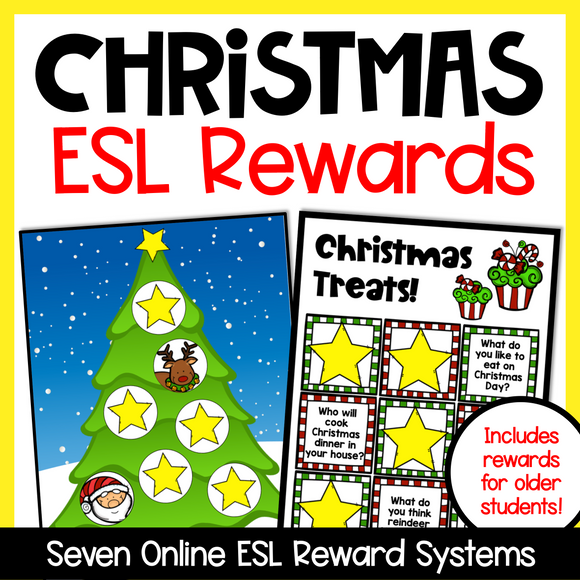 Christmas Online ESL Reward System (7 Boards)