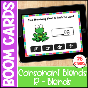 Consonant Blends Boom Cards - R Blends