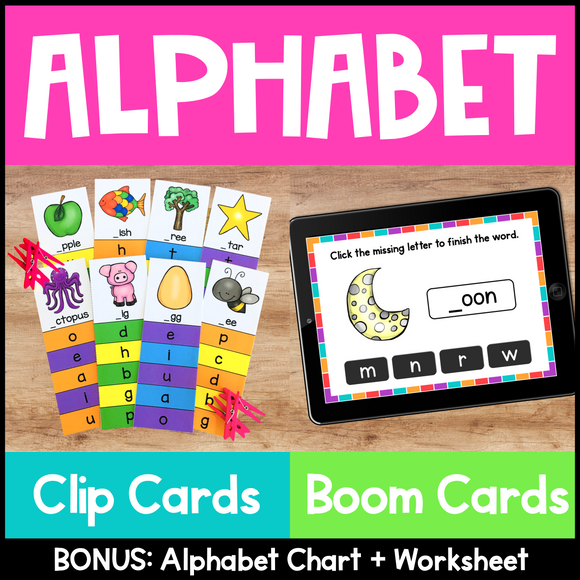 Alphabet Clip Cards and Boom Cards
