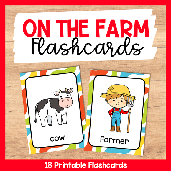 On The Farm Flashcards