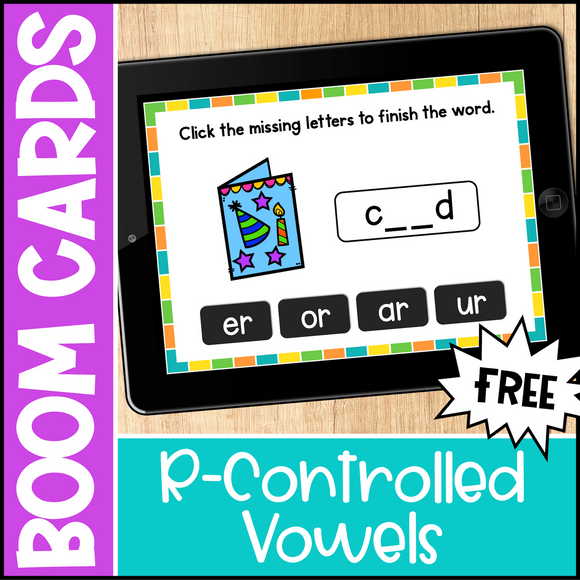 Free R-Controlled Vowel Boom Cards