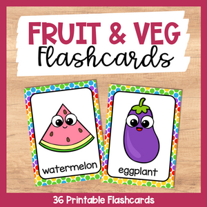 Fruit and Vegetable Flashcards