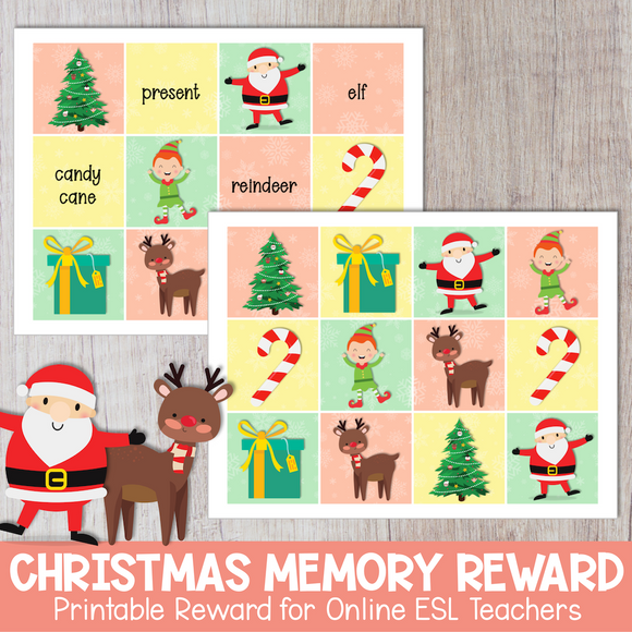 Christmas Memory Game Reward