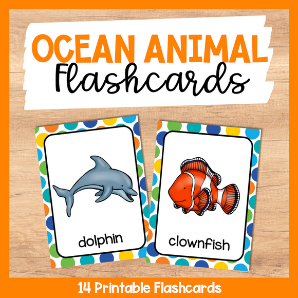 Ocean Animal Flashcards