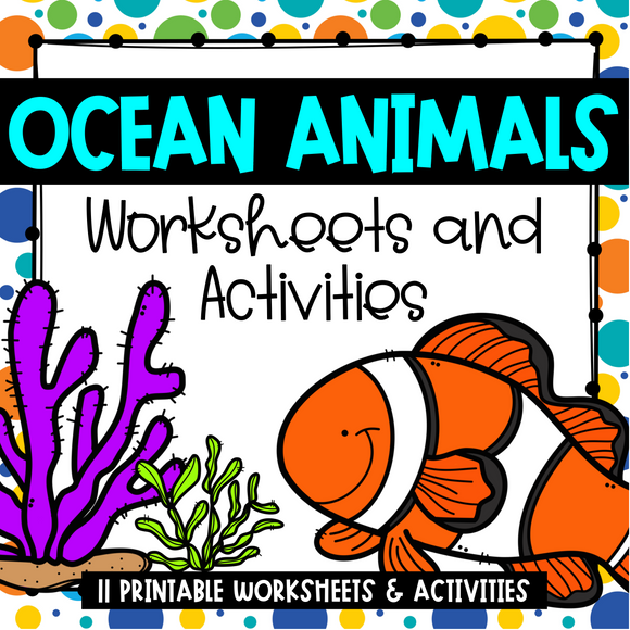 Ocean Animals Worksheets and Activities